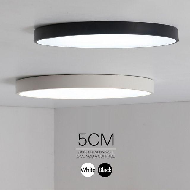 Minimalistische zwart wit art moderne plafond verlichting for Kamerlamp plafond