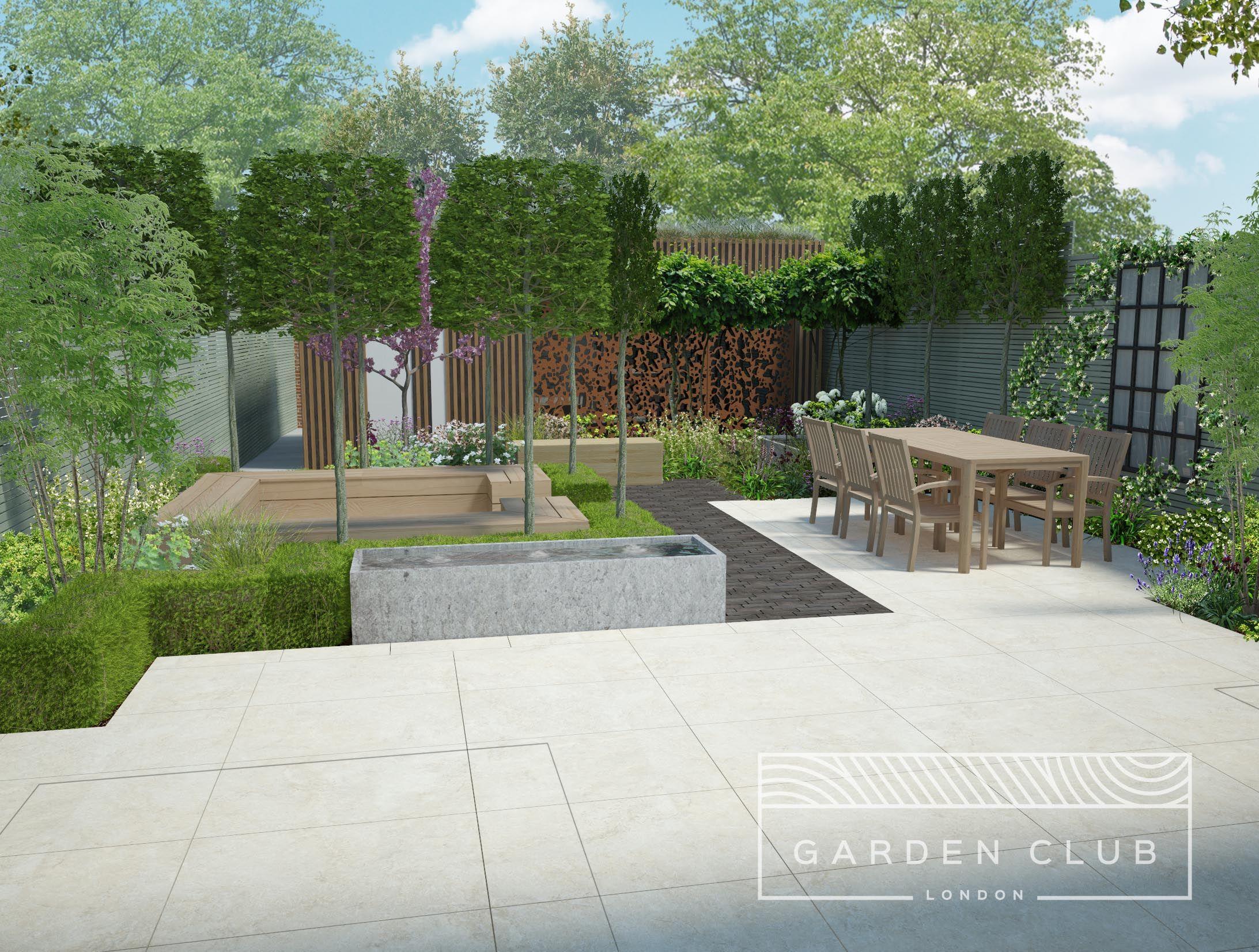 Residential Garden Design Garden Planters Diy Garden Design London Urban Garden Design