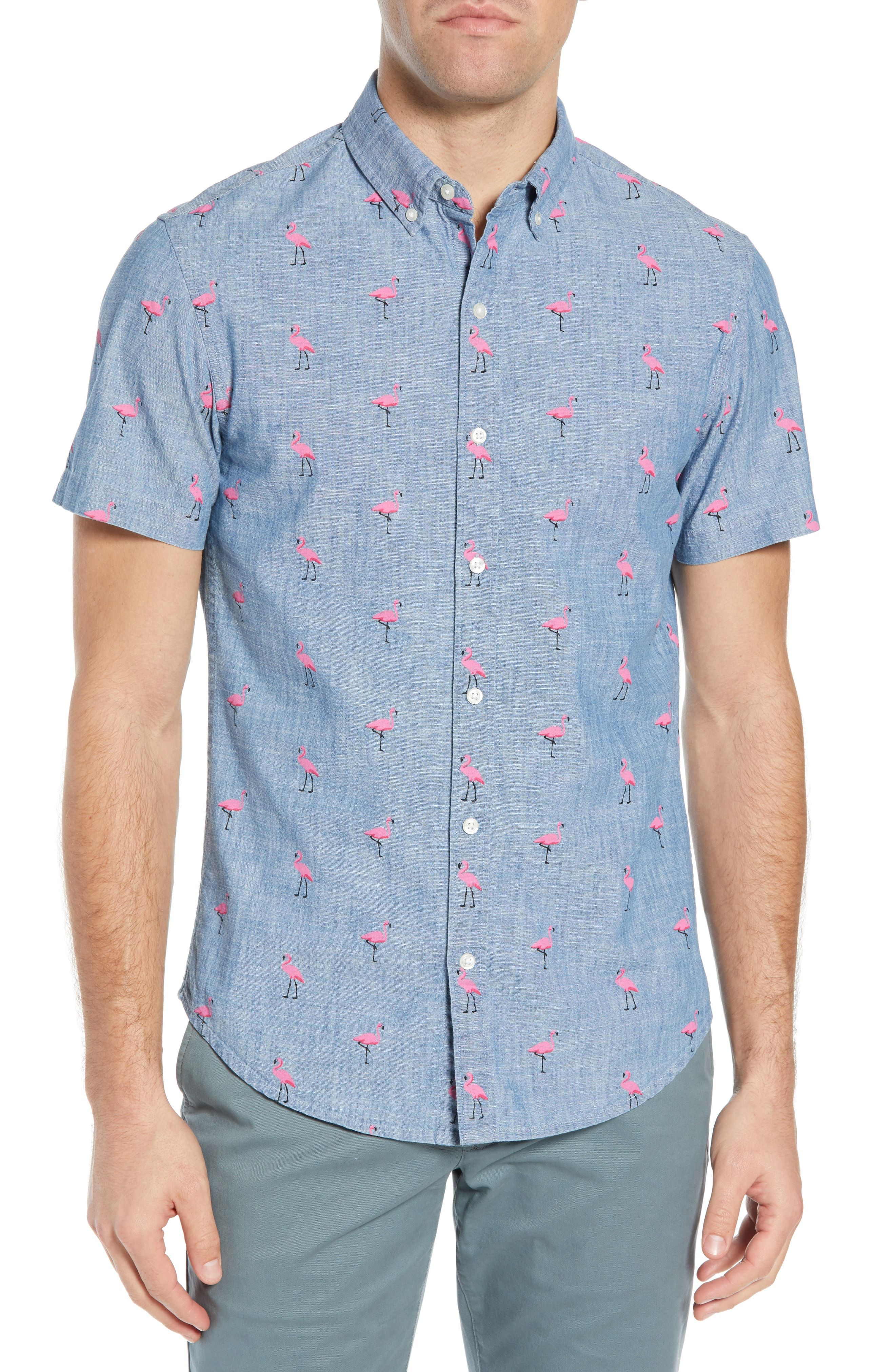2b261f7e96 BONOBOS RIVIERA SLIM FIT FLAMINGO PRINT SPORT SHIRT.  bonobos  cloth ...