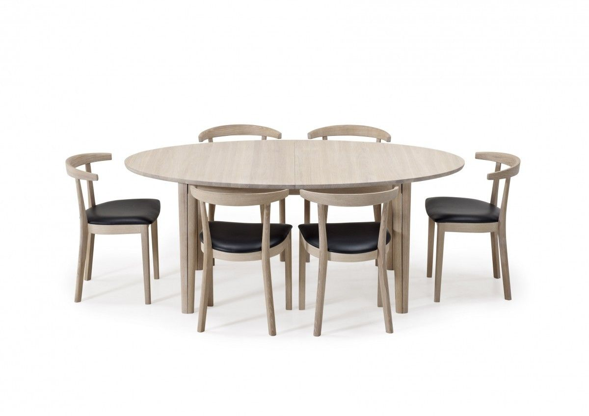 Skovby Sm78 Ellipse Dining Table With 2 Veneered Leaves