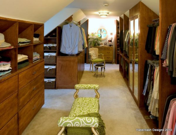 Interesting Design Ideas And Advantages Of Walk In Closets - Customized closet designs small rooms sloped roofs