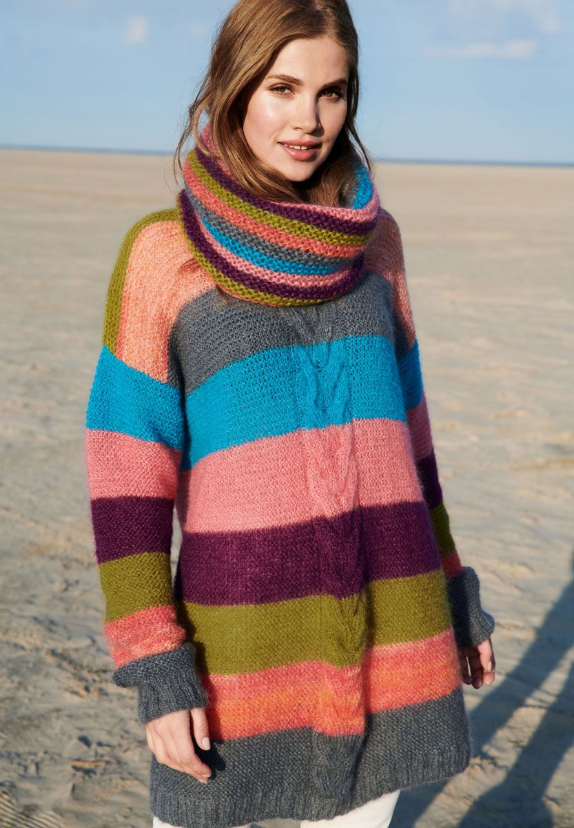 TUNIC Silkhair/Silkhair Print | Knitting, Wool, Knitting ...