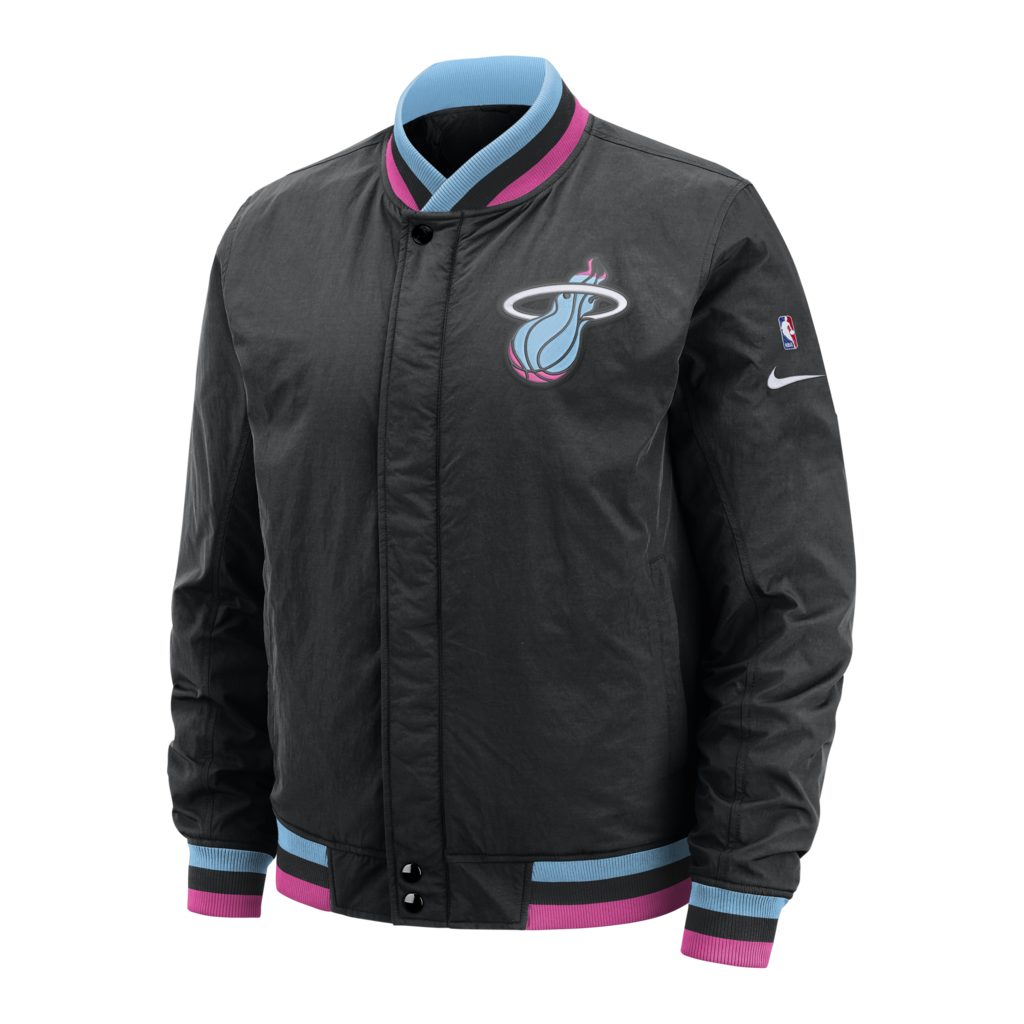 Nike Miami Heat Vice Nights Courtside Jacket Nba Jacket Miami Heat Mens Jackets