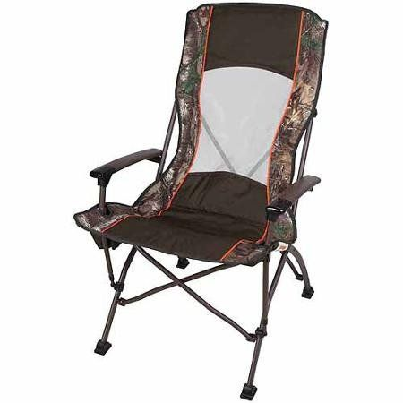 Ozark Trail High Back Mesh Camp Chair With Fabric Cup Holder Green