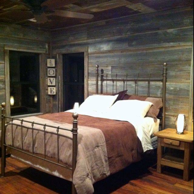 Beautiful Bedrooms With Beautiful Ceilings Rustic Bedroom: My Beautiful Barn Wood Plank Bedroom And Rusty Tin Ceiling. I Loooove My Room.