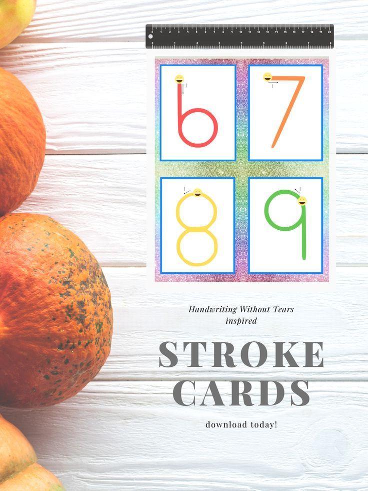 CHD HWT inspired Glitter Letter Strokes Cards ...