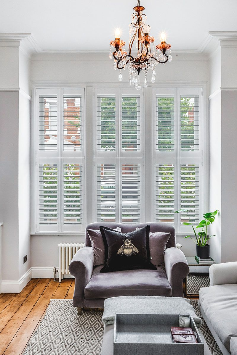Hannah S Clic Yet Contemporary Style For Her Battersea Home Plantation Shutters