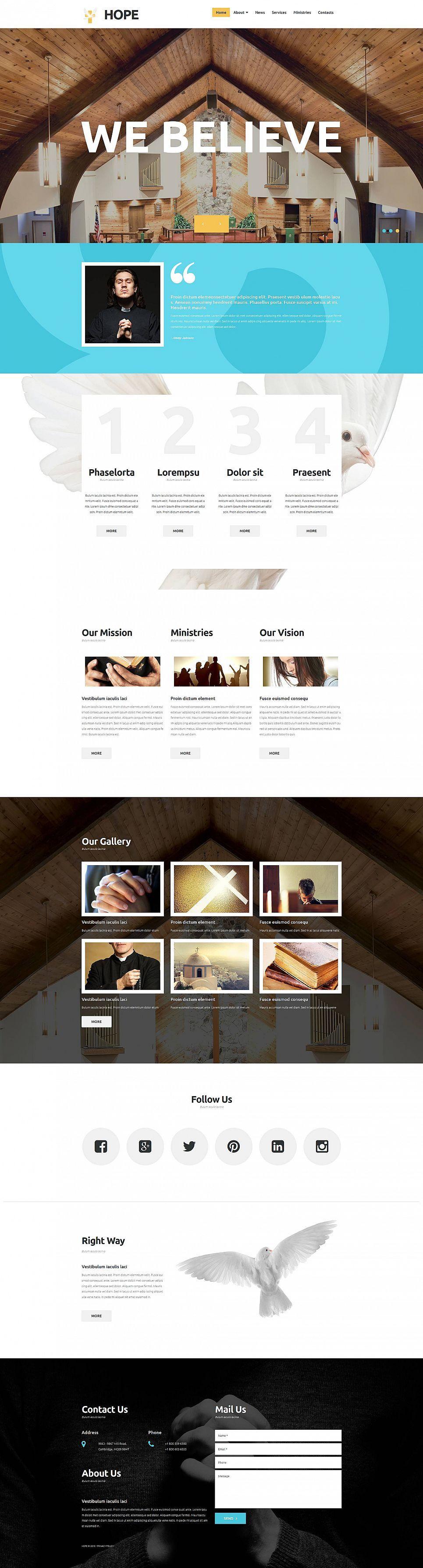 Religious Responsive Moto CMS 3 Template | Design Bundle