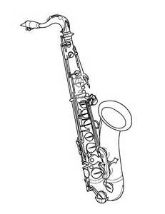 Saxaphonepage Colouring Pages Saxaphone Coloring Pages