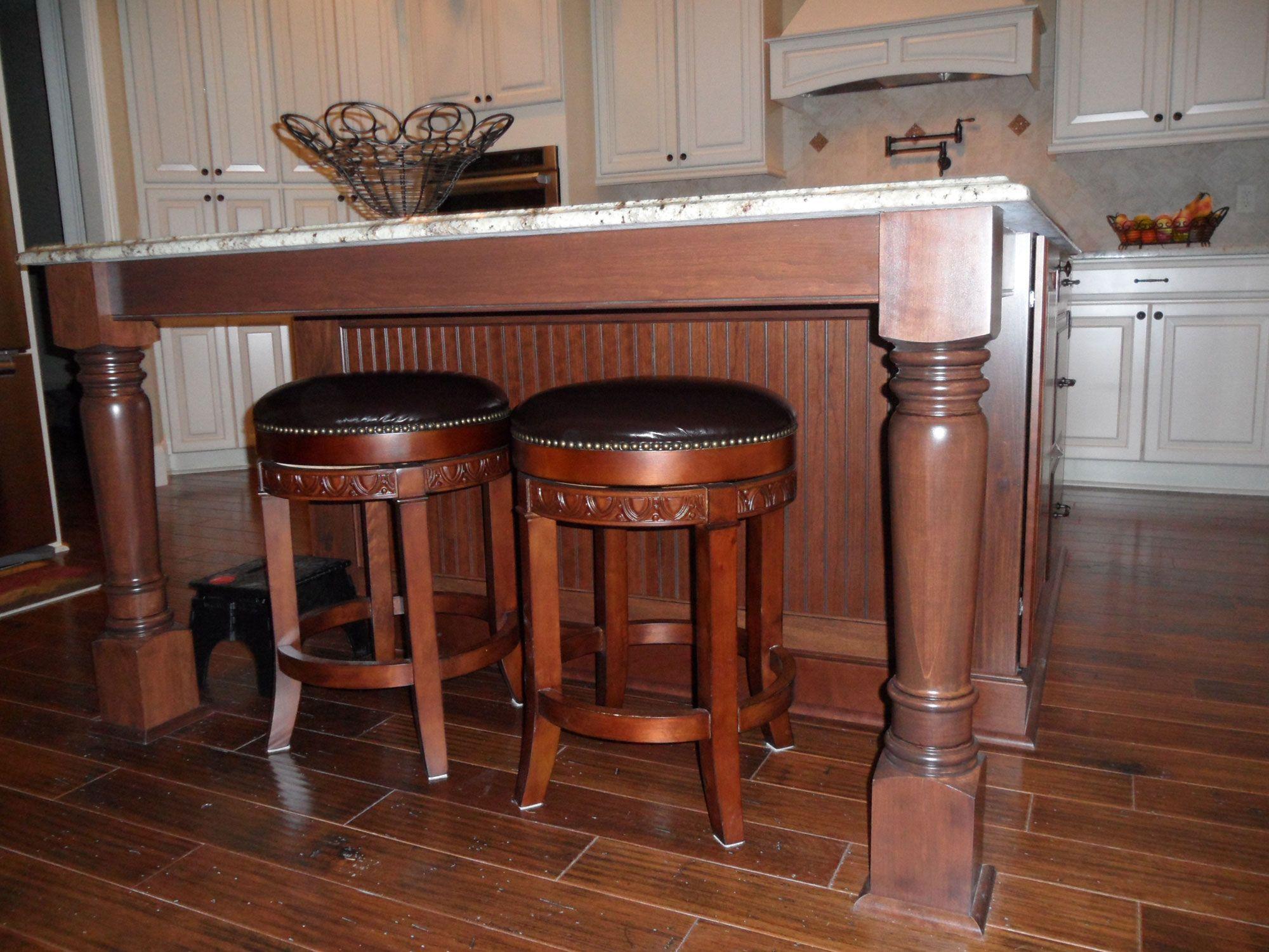 Wood Cabinet Columns