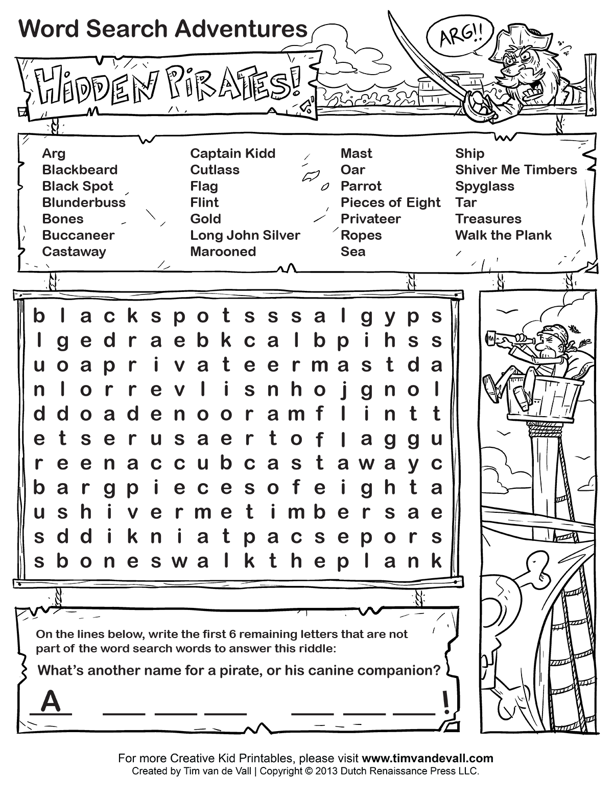 Pirate Word Finds