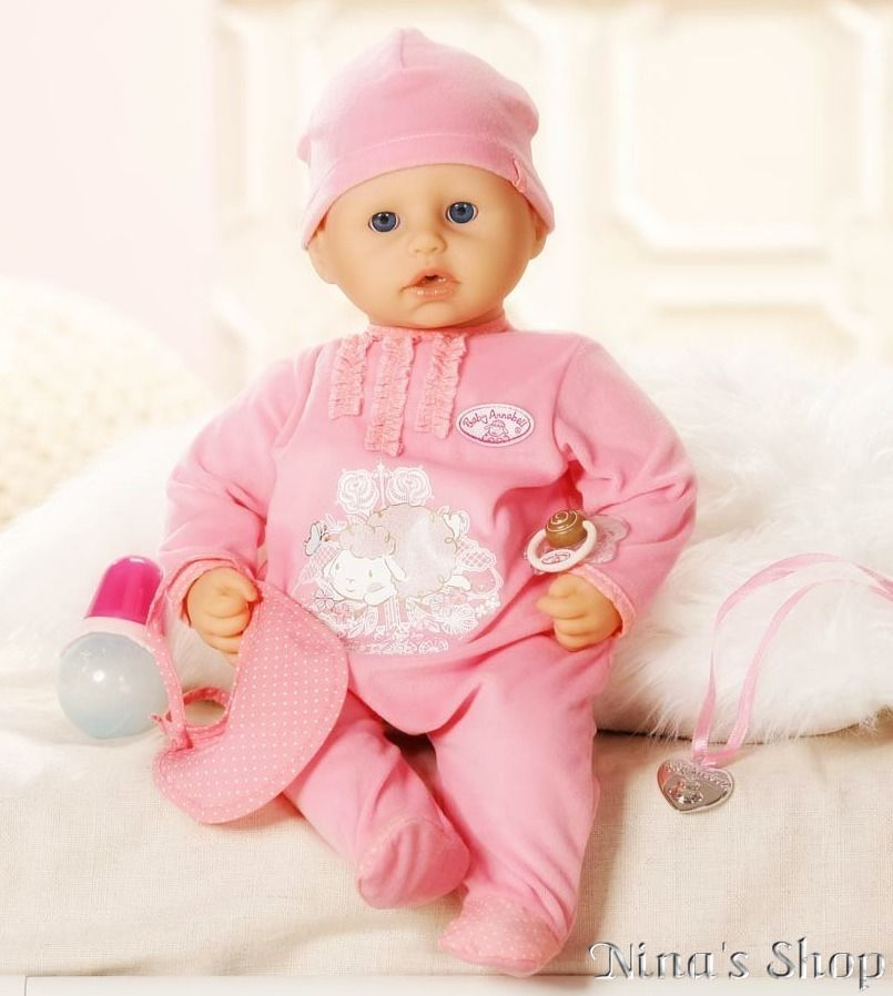 Baby Doll Annabell Feeding Bottle Pacifier Girls Toy Play Realistic ...