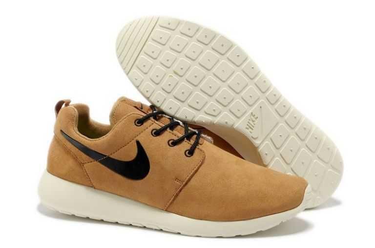 ede5fbe485bc Confortable Nike Roshe Run Homme Camel Blanc Noir  e07C    Nike Rosh ...