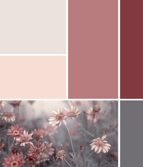 Altrosa, Creme und Grau kombinieren Pleasing Palettes - schöner wohnen schlafzimmer gestalten