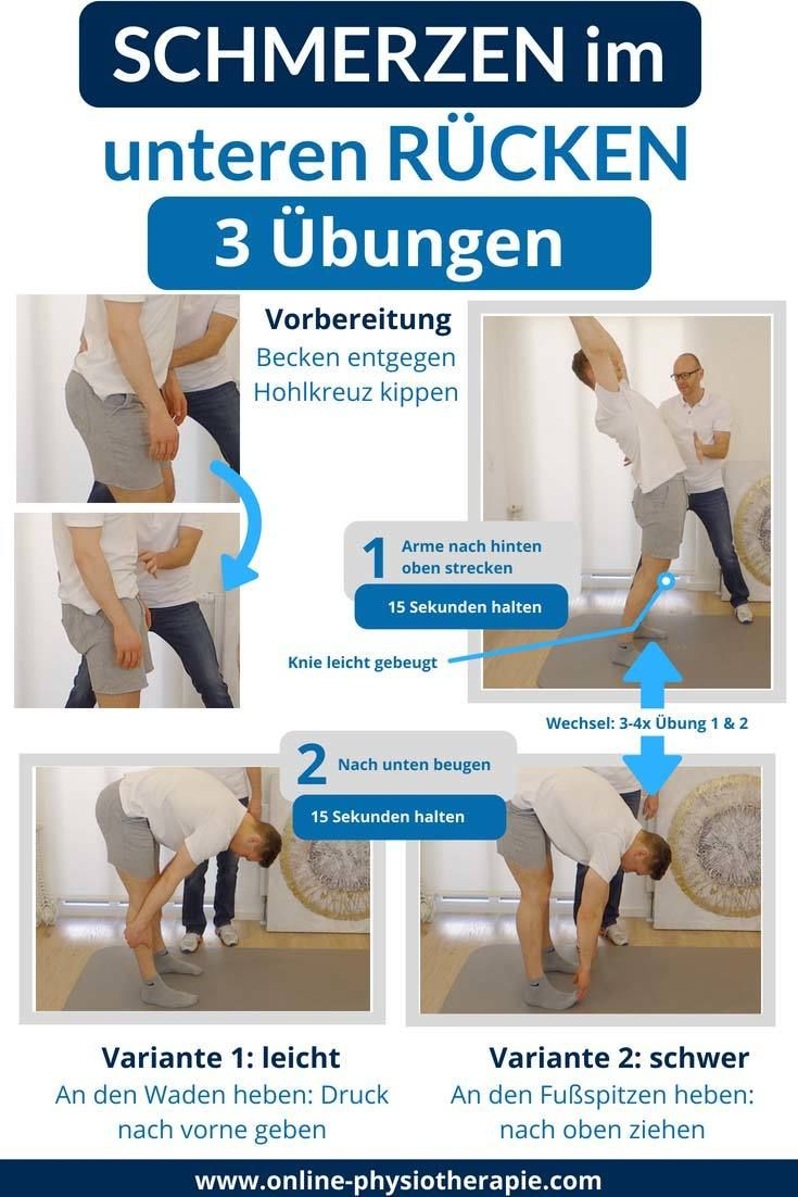 Rückenschmerzen unterer Rücken 3 effektive Übungen um