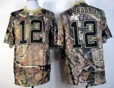 Nike New England Patriots 12 Tom Brady Realtree Camo Elite Jersey New England Patriots