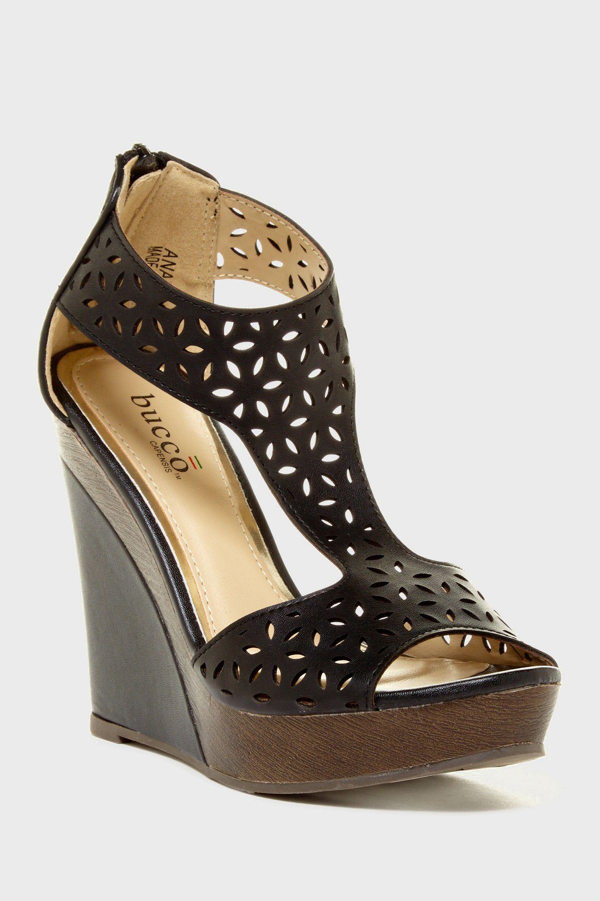 635099fc7c1d Bucco Anais Laser Cutout Sandal
