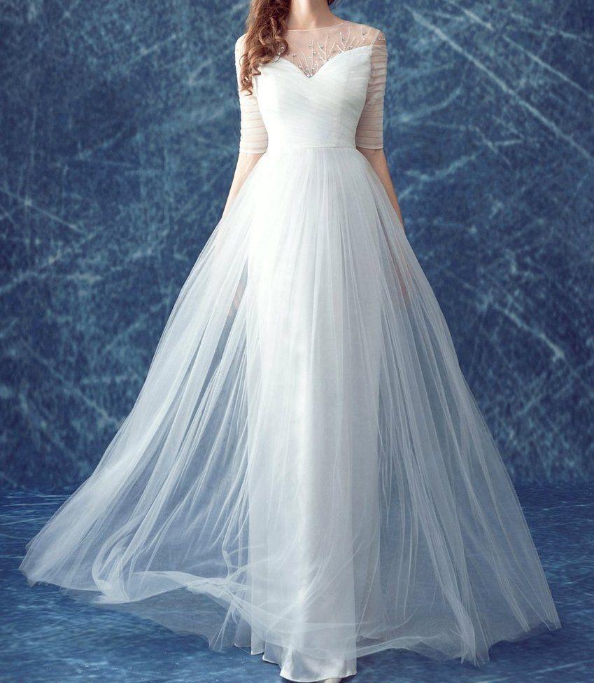 Wedding Dress Bridal gown lace Bohemian any plus size custom 2 4 6 8 ...