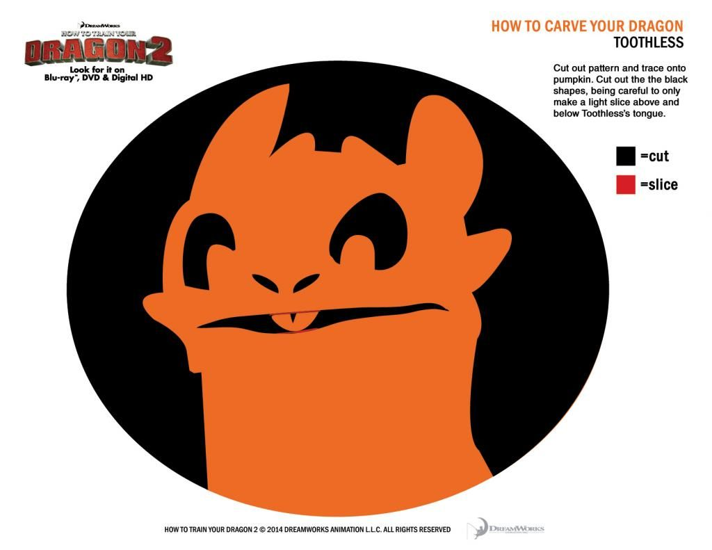 Toothless how to train your dragon pumpkin carving