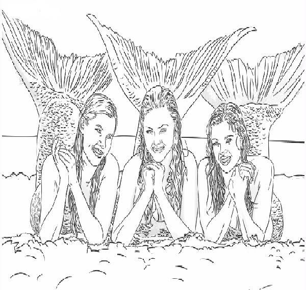 Coloring Pages Mermaids H2o | Coloring Pages