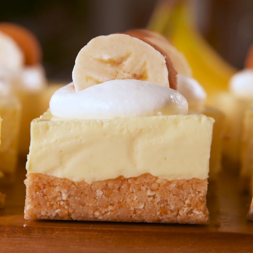 No-Bake Banana Pudding Bars Are EVERYTHING