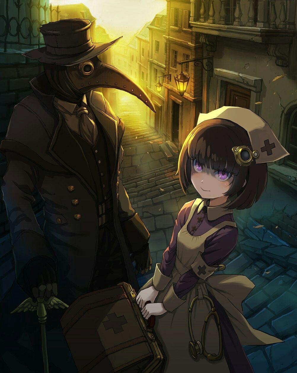 artist unknown Plague doctor, Nurse art, Anime