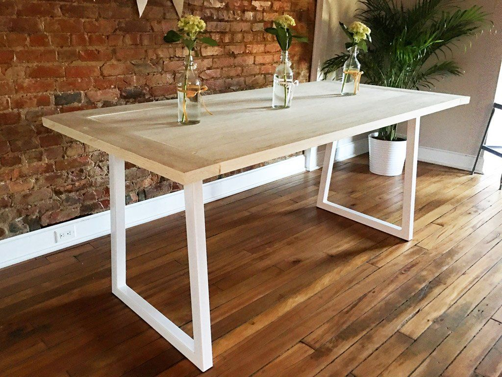 Gloss White Metal Table Legs And Table Bases Symmetry Hardware Steel Table Legs By Symmetry Hardware Metal Table Legs Metal Table Metal Leg Dining Table