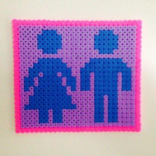 Toilet sign hama beads by sannakoi
