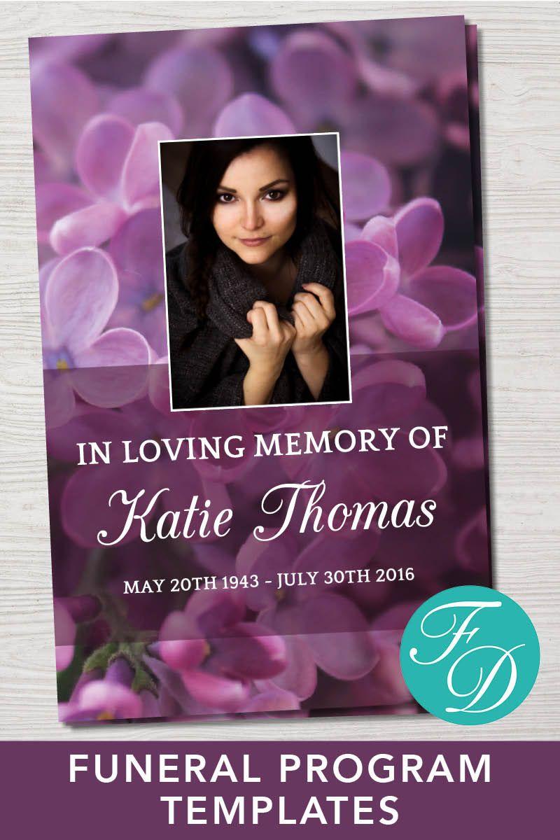 Funeral Program Template Memorial Program Obituary Template