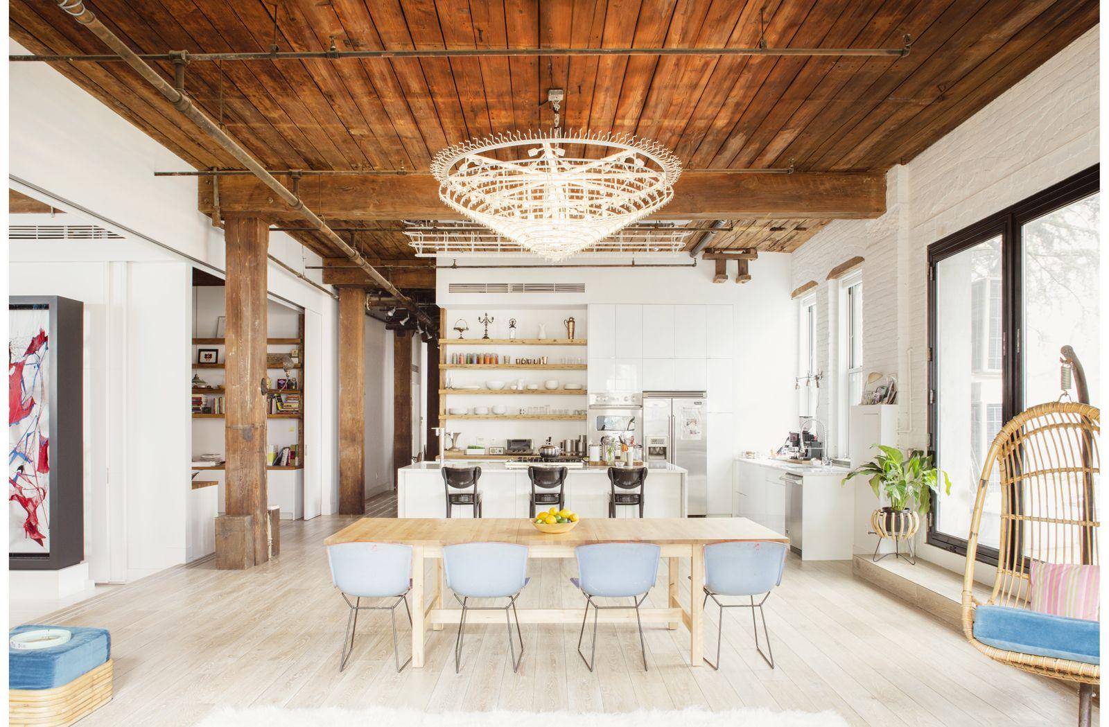 Artist 39 s studio live work loft williamsburg brooklyn - Brooklyn apartment interior design ...