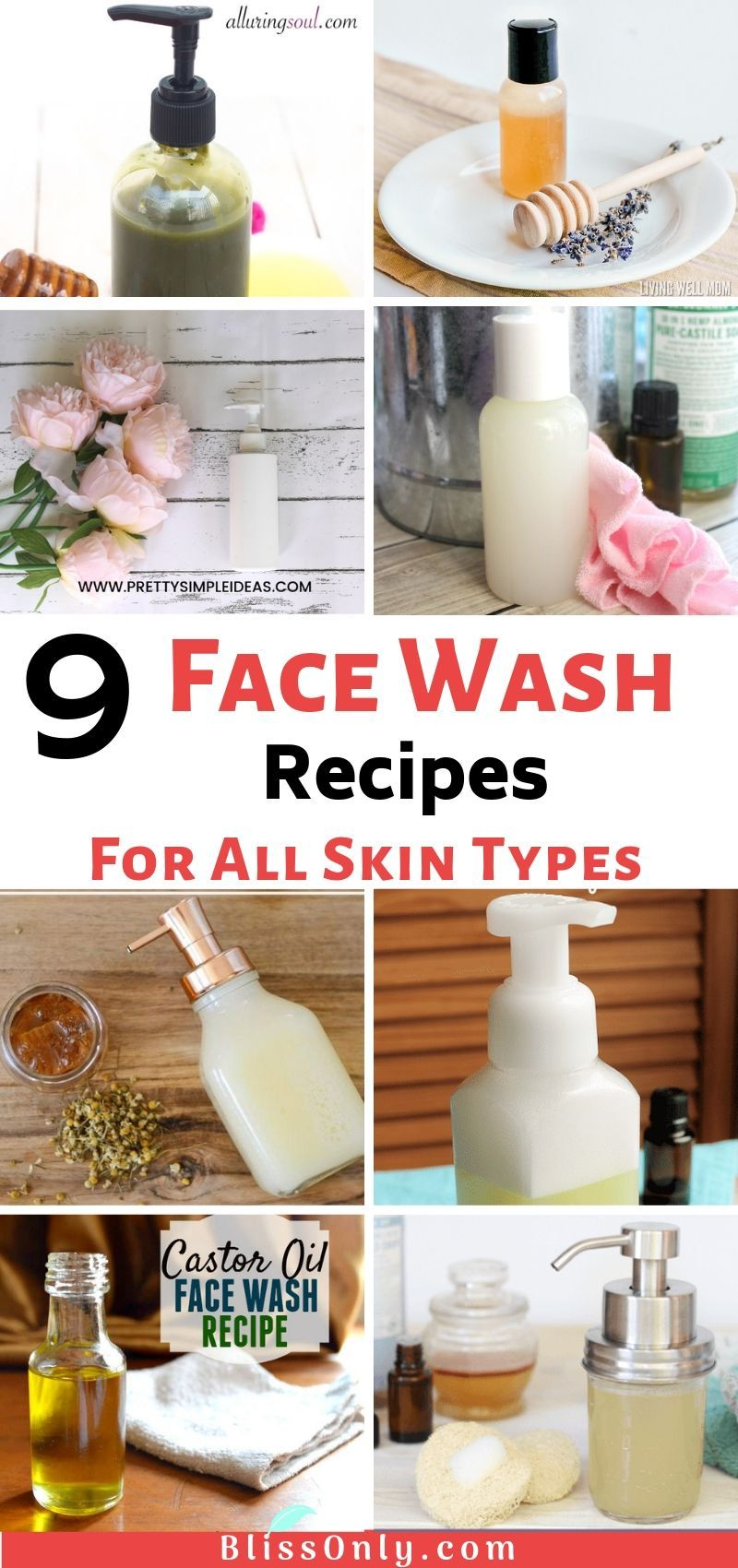 9 DIY Face Wash Recipes For All Skin Types Face wash