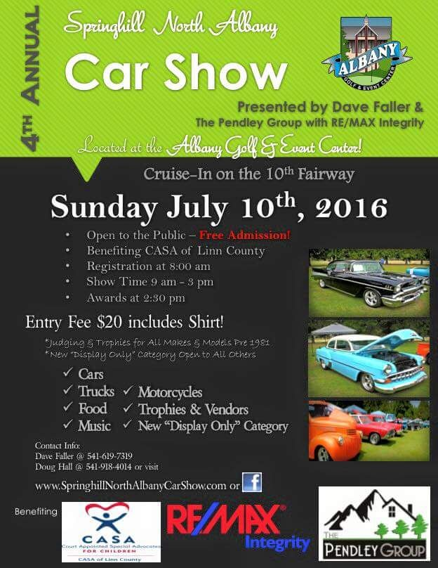 Fun for adults and kids! Free to the public. Music, food, and of course cool cars!