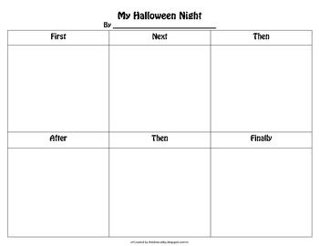 Halloween Comic Strip Template  Idea Cubby    School