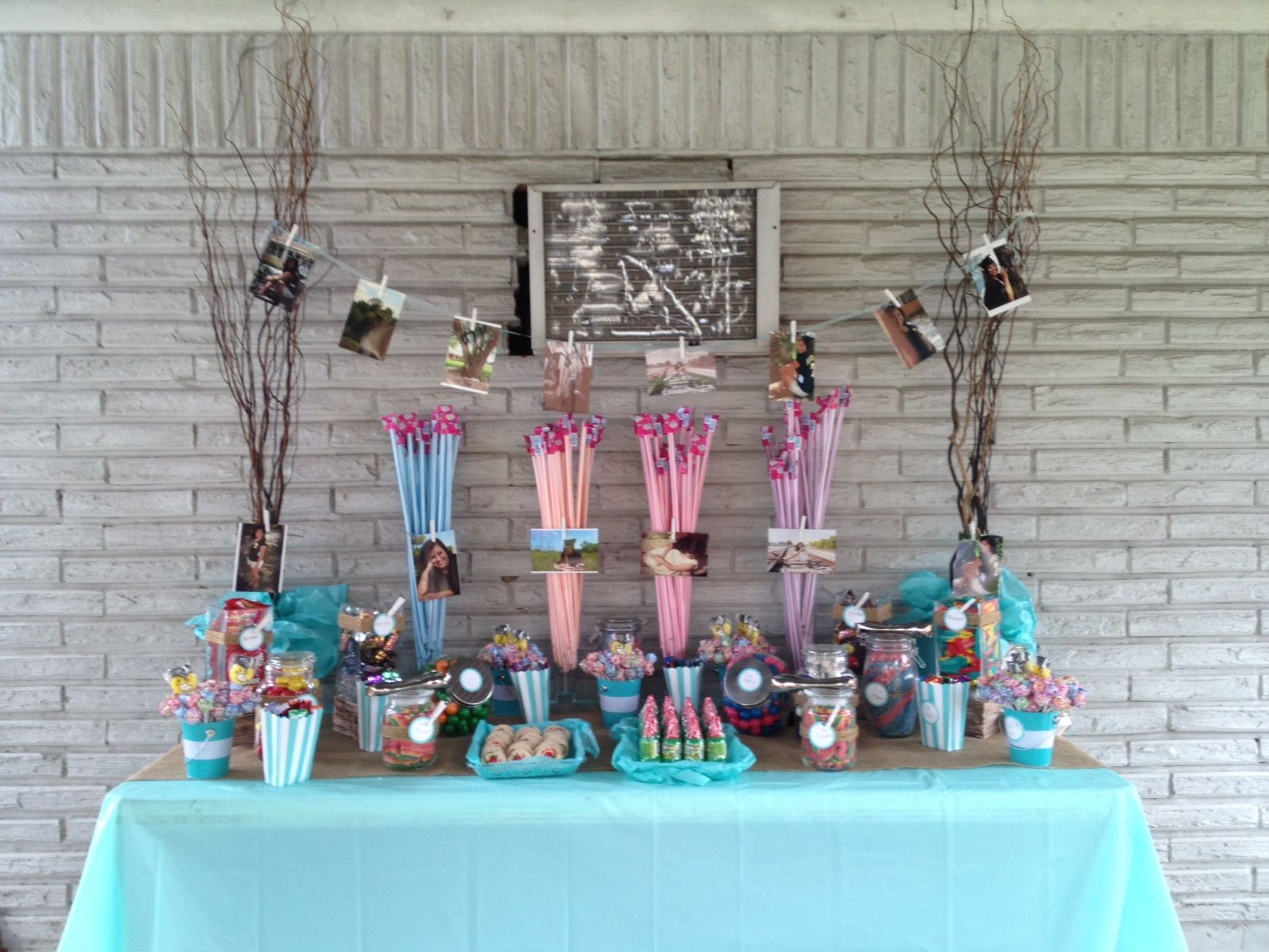 diy my graduation party candy table it was very simple but with a touch of
