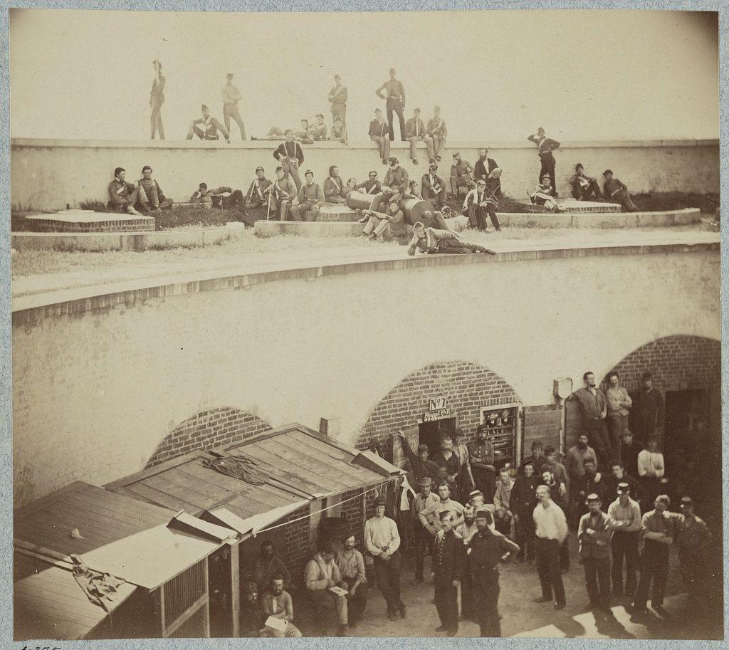 Federal prisoners captured at battle of bull run castle