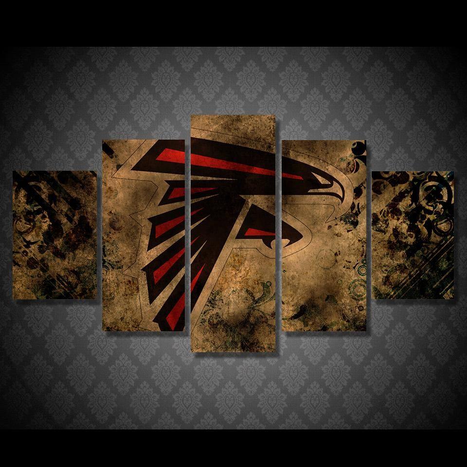 Atlanta Falcons Wall Art On Canvas Print Picture Atlanta Falcons Art Framed Canvas Wall Art Atlanta Falcons