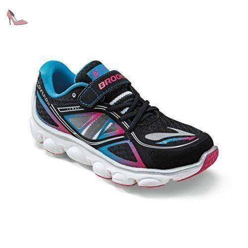 BROOKS KidsPureFlow 3 Junior Running Shoes, Black/Blue, J9.5 - Chaussures