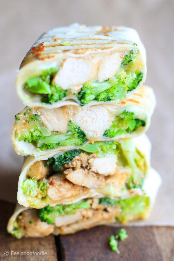 Grilled Chicken Broccoli Wraps | FeelGoodFoodie