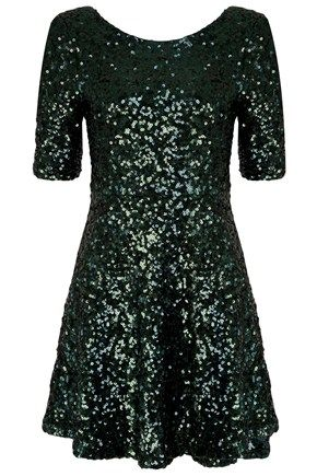 OZLEM SEQUINS FLARED DRESS - Dresses - French Connection Usa
