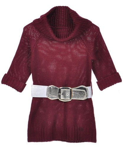 """Dresses - Guess """"Winter Wish"""" Belted Sweater Dress (Sizes 2T - 4T)"""