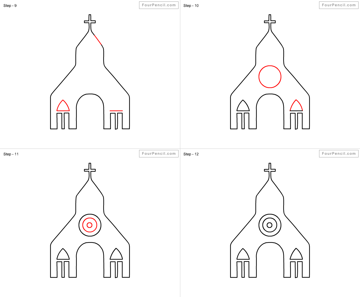 how to draw church for kids slide 3 click to enlarge