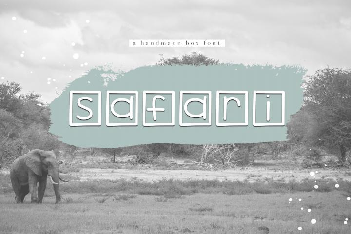 Safari - A Handwritten Box Font (129154) | Regular | Font ...