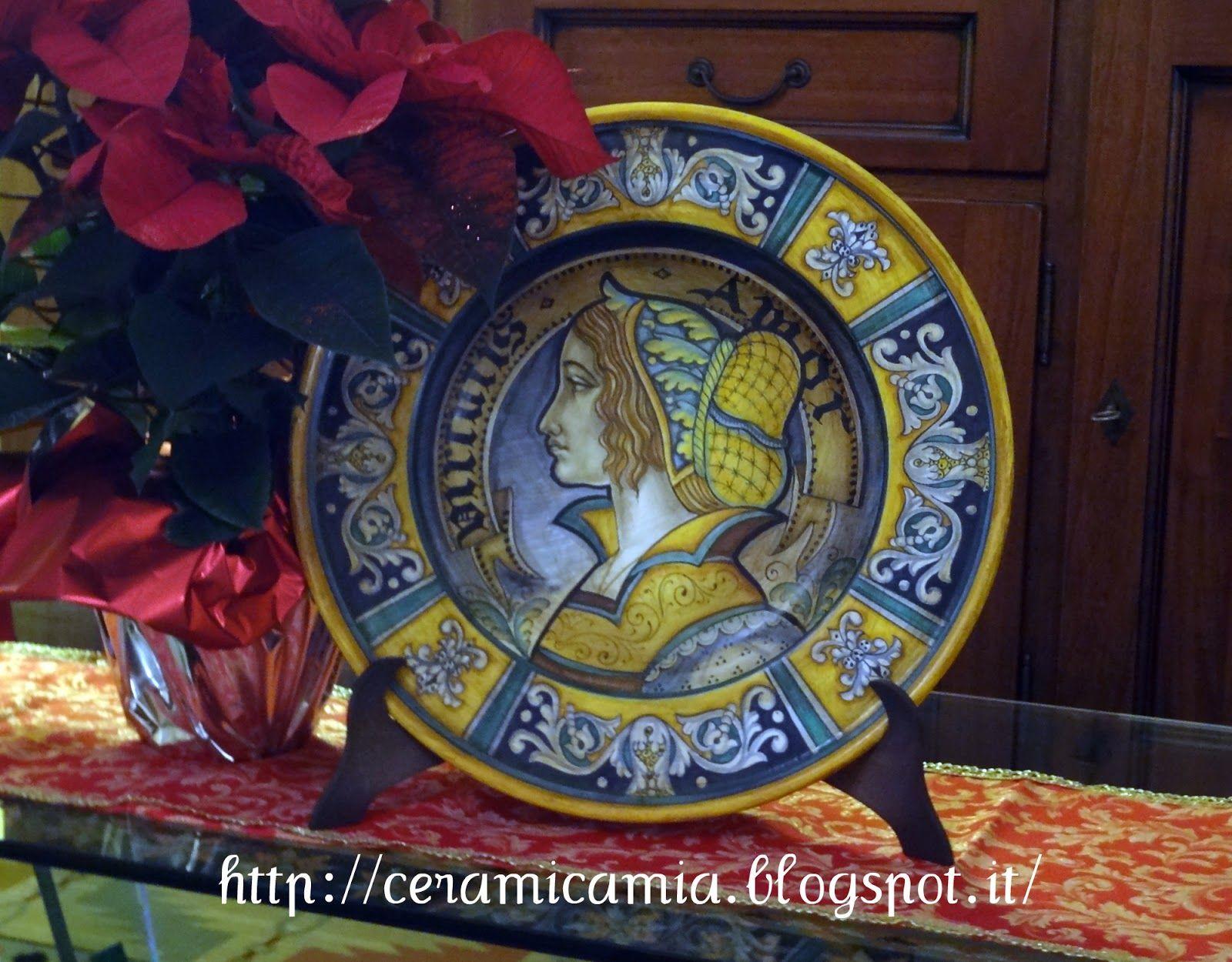 Piatti decorati in mostra a roma ceramic plates italian for Piatti roma