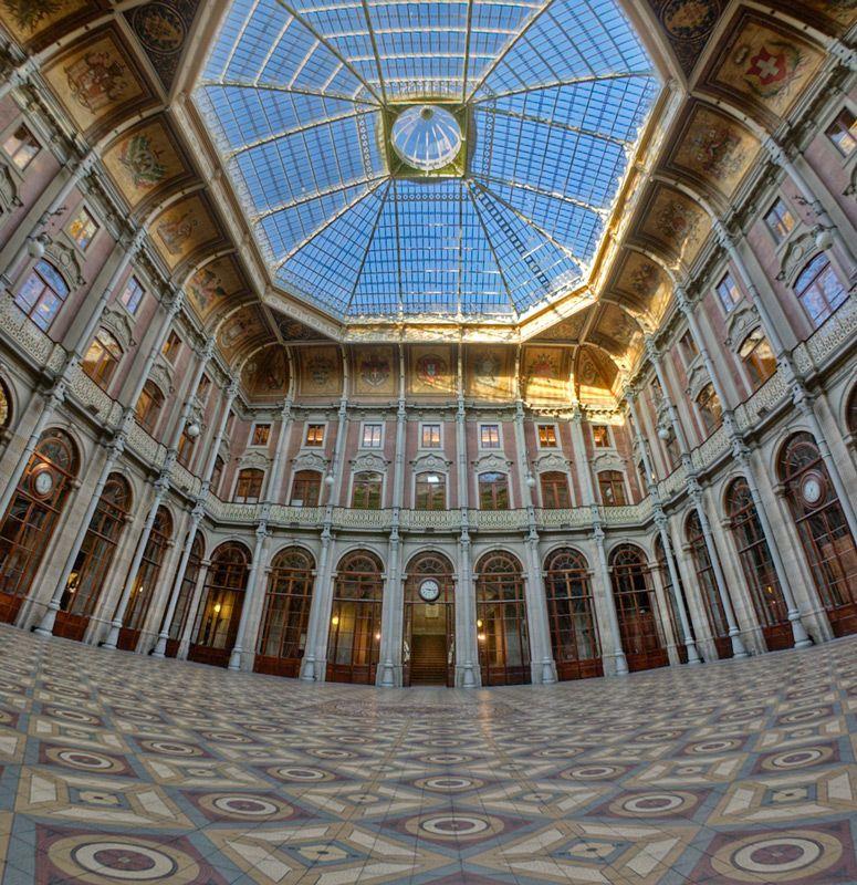 6 Top Interior Design Projects From Porto Portugal: Palacio De La Bolsa Oporto