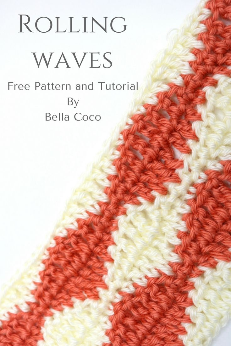 Rolling Waves Pattern | Free pattern and video tutorial | Bella Coco ...