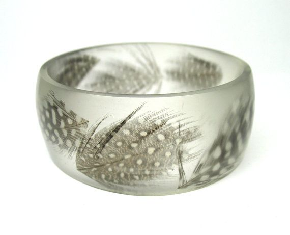 feather | Resin bangles, Resin jewelry, Clear resin
