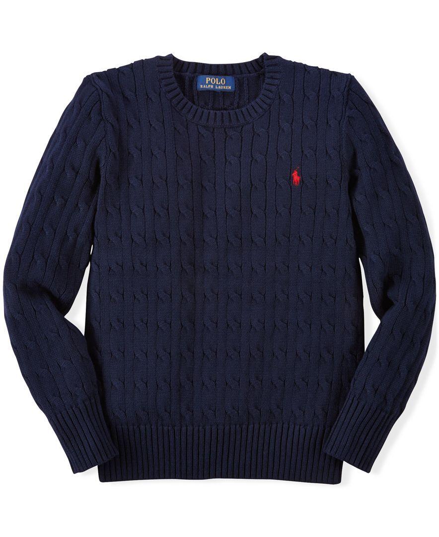 Ralph Lauren Boys' Cable-Knit Sweater