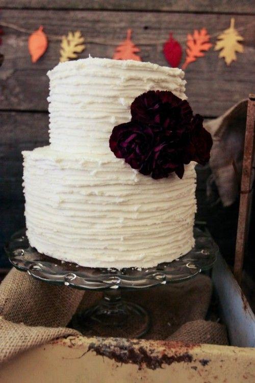 fall rustic wedding cake Jennycookies.com