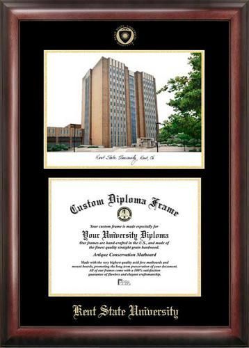 Kent State University Diploma Frame With Limited Edition Lithograph