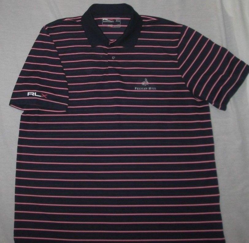 f735b8a0 MEN'S RALPH LAUREN RLX Golf Shirt Size XL - Blue Stripe - PELICAN HILL GC -  CA #RalphLaurenRLX #PoloRugby